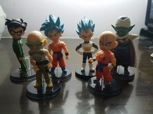 Anime Dragon Ball Z 6PCS/SET Son Gokou Son Gohan Vegeta Piccolo Kuririn Master Roshi PVC Action Figures Toys Model Brinquedos