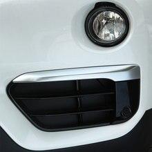 Для BMW X1 F48 2016 2017 Chrome передние противотуманные свет лампы век полоса крышка Накладка автомобиля Интимные аксессуары
