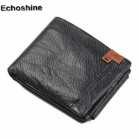2018 hot fashion purse coin Multi card Bifold Wallet Men Genuine Leather Black Credit/ID Card Holder Slim Purse wholesale A0000