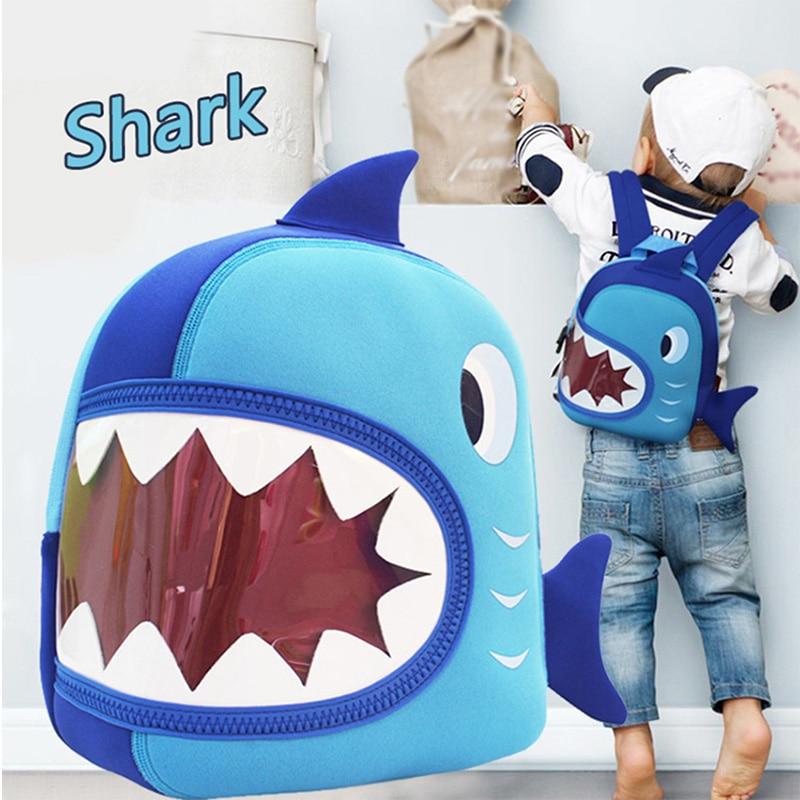 Child Baby Girl/&Boy Kids Cartoon Shark Animal Backpack Toddler