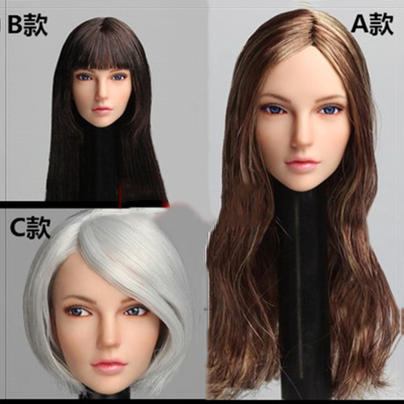1/6 Scale Woman 2B Head Sculpt Europe beauty Girl plant hair Head Carved Model with bling movable eyes  e Fit pale Female Body1/6 Scale Woman 2B Head Sculpt Europe beauty Girl plant hair Head Carved Model with bling movable eyes  e Fit pale Female Body