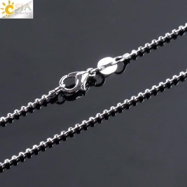CSJA Reiki naturalne kamienne naszyjniki różowe wisiorki kwarcowe dla kobiet dziewczyna słodki kociak kształt Rock koraliki z czarnego onyksu łańcuch biżuteria F066