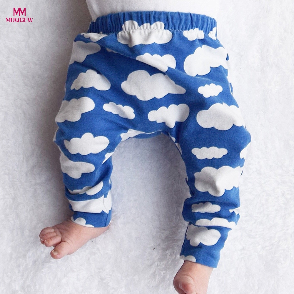 Hot Sale Cute Cloud Print Kids Baby Boys Girls Pants Casual Comfortable Leggings Clothes for Toddler Infant