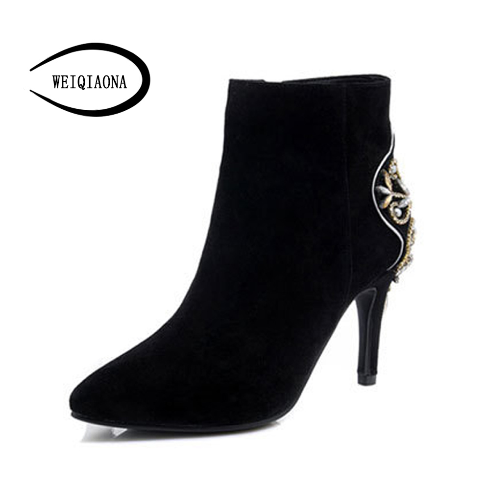 Здесь продается  WEIQIAONA Genuine leather Sexy Pointed toe Women