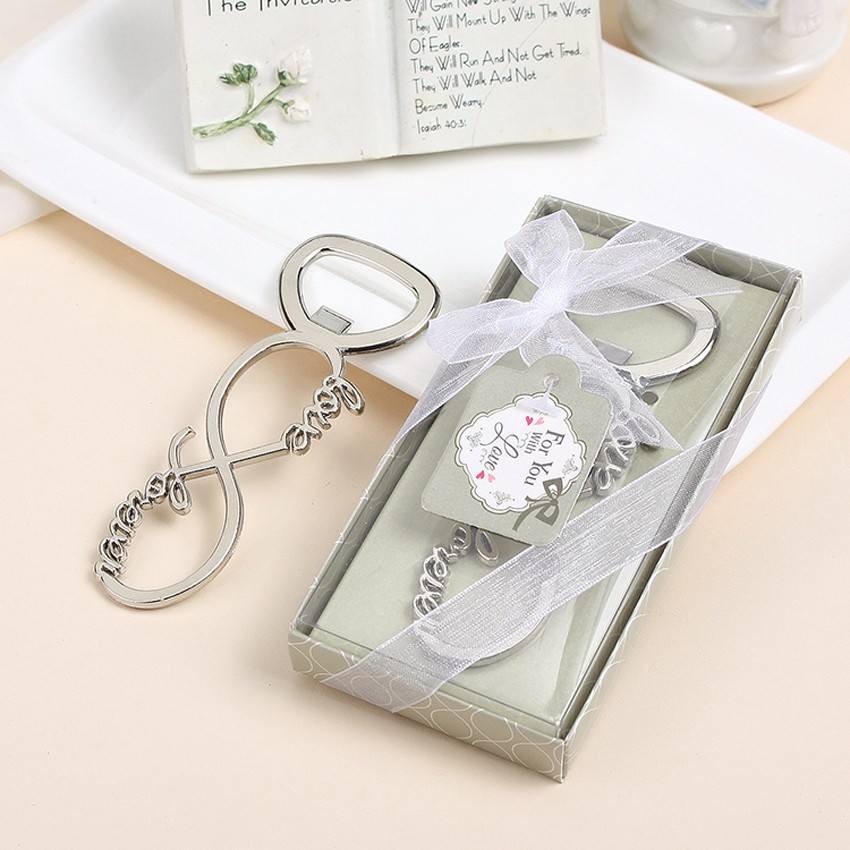 Free shipping love forever bottle opener wedding favors for Wedding favor supplies