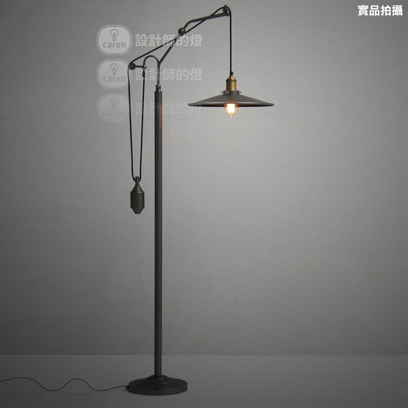 Us 879 9 27 Off Vintage Ofhead Metal Cover Black Floor Lamp Home Decorative Abajur Standing Edison Bulb Light Fixture In Lamps