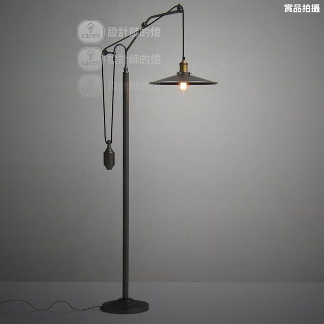 Vintage Ofhead Metal Cover Black Floor Lamp Home Decorative Abajur Standing Edison Bulb Light Fixture