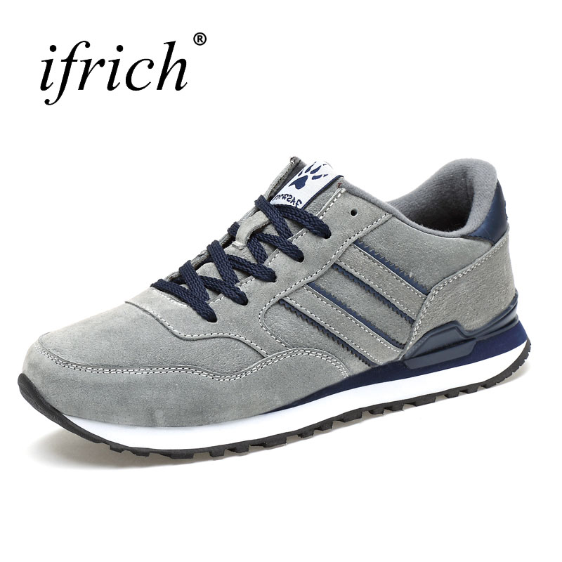 Ifrich 2017 New Arrival Autumn Winter Men's Trainers Sneakers Running Shoes Comfortable Jogging Sneakers Mens Sport Trainers man sneakers sports shoes leather running shoes black red jogging sneakers training shoes autumn winter running trainers