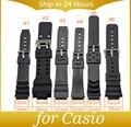 Pulseira de borracha relógio de pulso homens preto silicone pulseiras de relógio militar relógio do esporte banda cintas pulseira sweatband para casio cas02