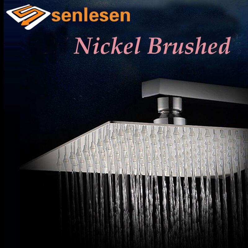 Brushed Nickel Rain Shower Head