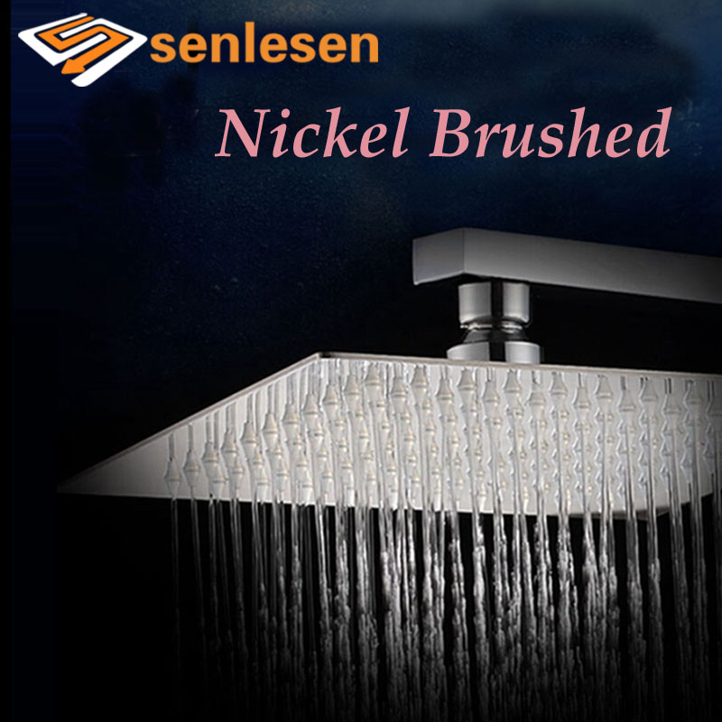 square rain shower head brushed nickel. wholesale and retail luxury square brushed nickel rain shower head wall mounted ceiling sprayer