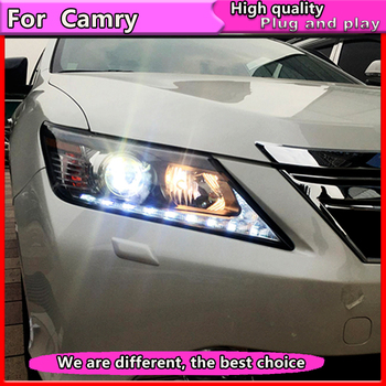 Car Styling for Toyota Camry headlight 2012-2014  Camry LED Headlight DRL Bi Xenon Lens High Low Beam h7 headlight Accessories