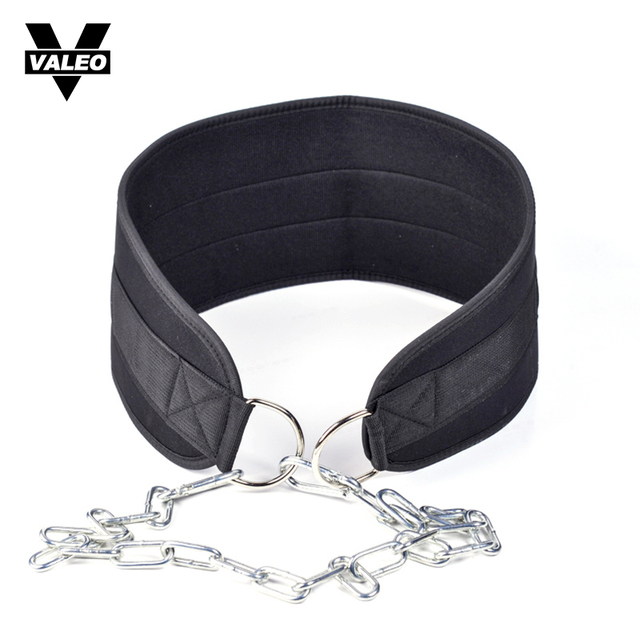 VALEO Men Gym Fitness Weights Strength Belt Bodybuilding Training Apparatus Sturdy and Durable Weightlifting Crossfit Equipment
