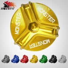 For Ducati Monster 696 795 796 821 1100 EVO 1200 1200S M20*2.5 Motorcycle Aluminum Engine Oil Fuel Filler Cover CUP цена