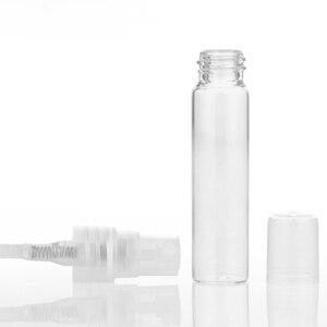 Image 5 - 100 шт./лот, 5 мл, 10 мл, дорожная бутылка с распылителем, портативный стеклянный распылитель духов для бутылок, Contenitori, косметический насос для женского парфюма