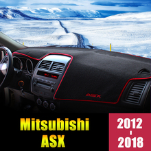 цена на For Mitsubishi ASX 2012 2013 2014 2015 2016 2017 2018 LHD Car Dashboard Cover Mat Avoid Light Pad Anti-UV Protector Accessories