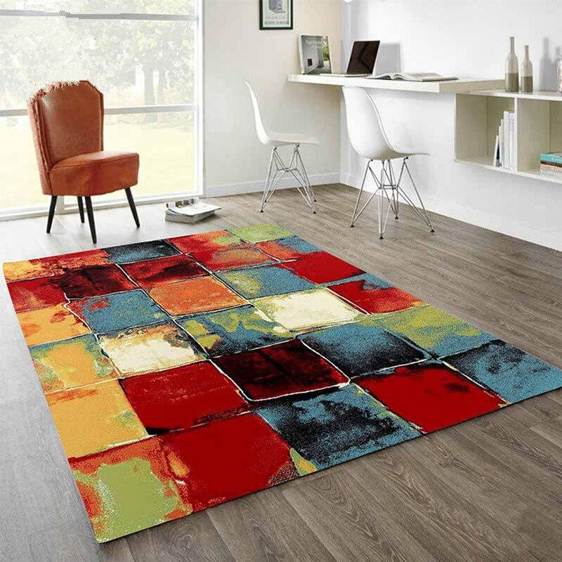 Tatami tapis ramper tapis pour salon chambre voyage pique-nique tapis moderne élégant géométrique abstrait couleur antidérapant tapis de sol