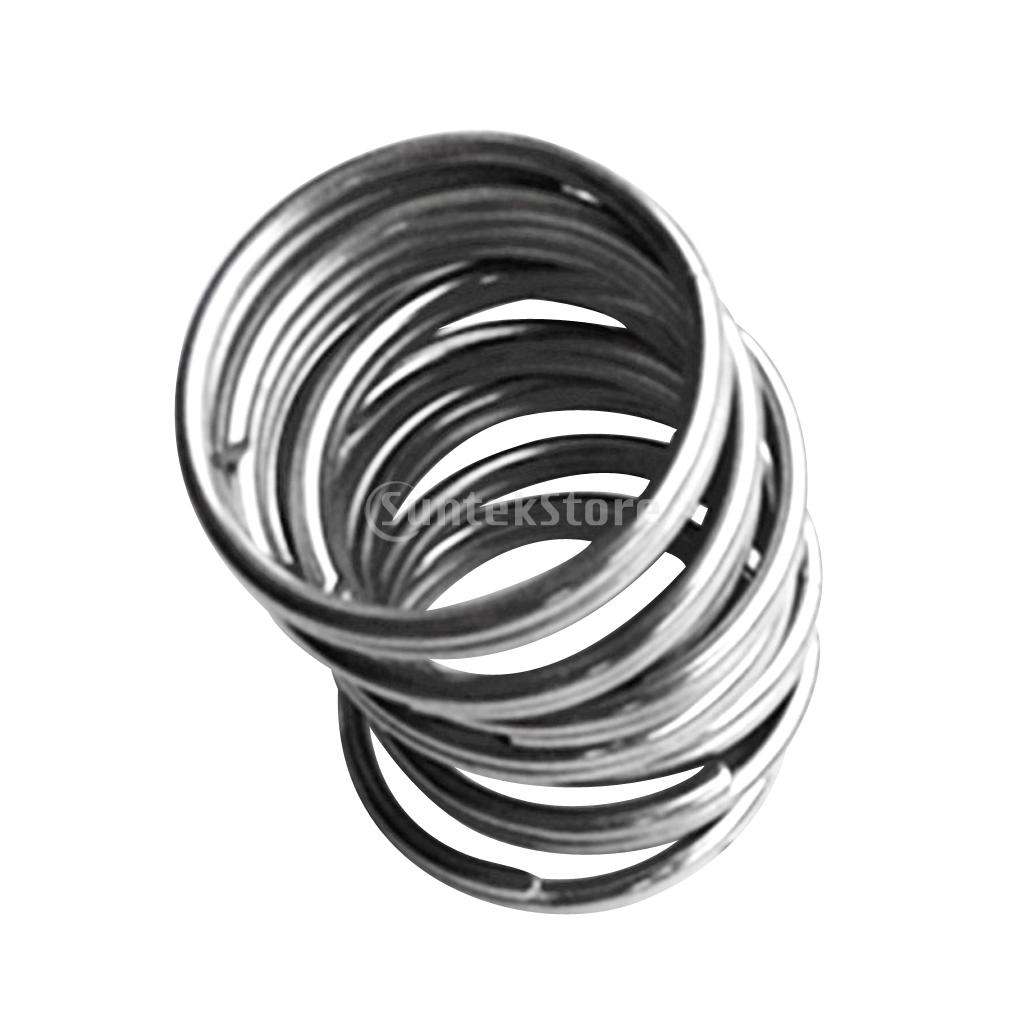 10Pcs Durable Portable Underwater Scuba Diving Outdoor Camping Sports Stainless Steel Split Ring for Gear Attachment 30mm/22mm