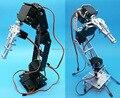 1 conjunto de 6 Grau Livre Plataforma de Ensino Robô Braço Mecânico Mão Multiangle Robótico Com Chifres Servo Para Arduino Robot DIY partes