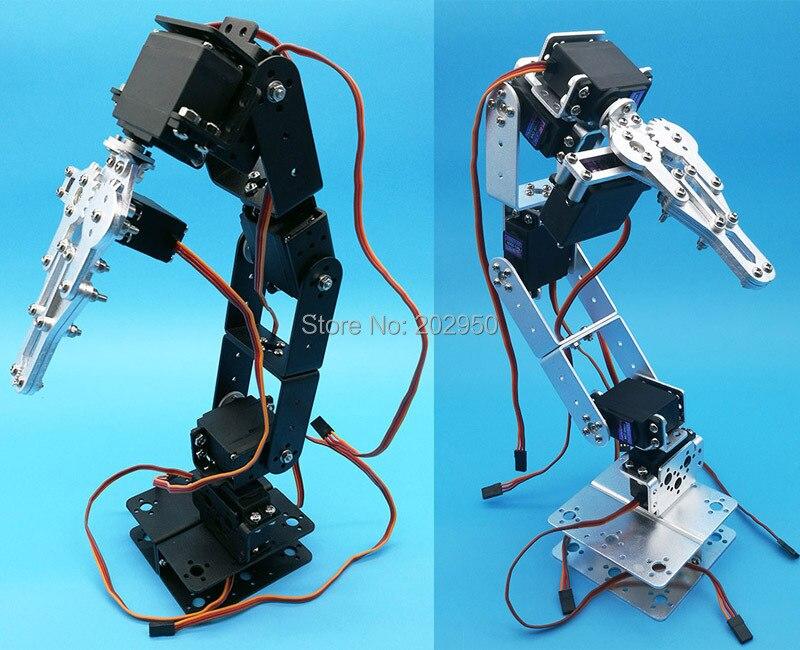 1 conjunto de 6 graus de liberdade manipulador liga de metal braço mecânico garra kit para mg996r ds3115 arduino educação robótica diy