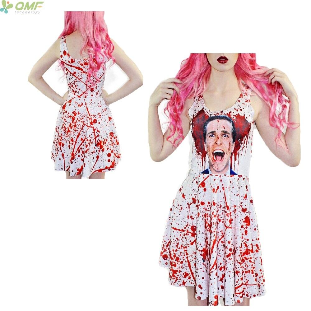 American Psycho Print Tennis Dress Saias Reversible Skater