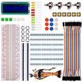 Para raspberry pi 3 Ar-duino Básico Starter Kit com Interruptor LCD Led Resistores para Ar-duino UNO Mega328 R3 Mega2560 Nano