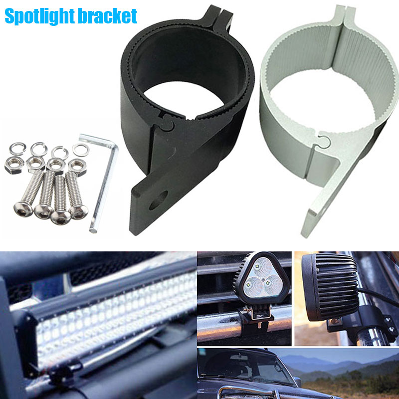 2Pcs 76-81MM LED Bar Roll Bull Mount Bracket Clamps Offroad Work Lights NR-shipping