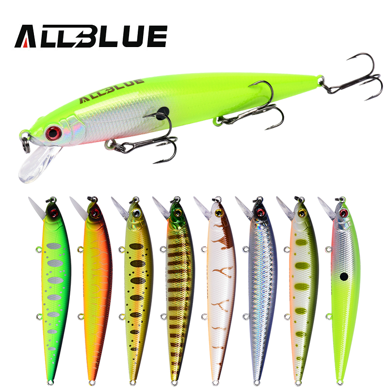 ALLBLUE SABO 110SP Fishing Lure 110mm 13.6g Suspend Jerkbait Minnow Wobbler Depth 0.6-1m Bass Pike Bait Fishing Tackle allblue new jerkbait professional 100dr fishing lure 100mm 15 8g suspend wobbler minnow depth 2 3m bass pike bait mustad hooks