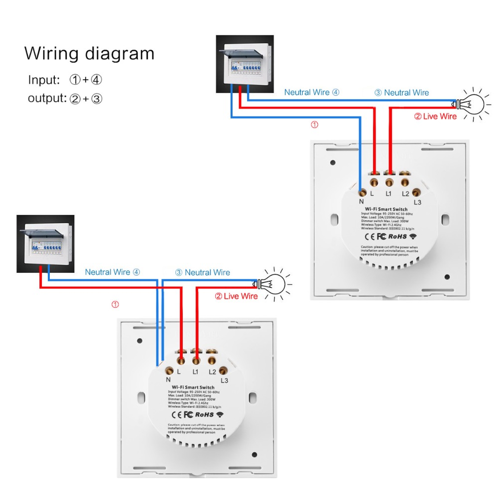 [SCHEMATICS_4UK]  Touch Switch Smart Light Switch Panel – Tech Giants | Light Switch Touch Wiring Diagram For |  | Tech Giants