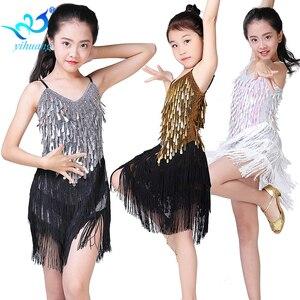 Image 1 - Children Latin Dance Dress Girls Ballroom Dance Competition Dresses kids Salsa /Tango / Cha Cha Rumba Stage Performance Outfits