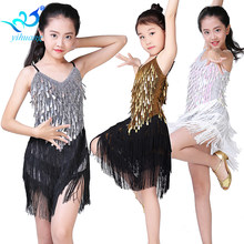 Children Latin Dance Dress Girls Ballroom Dance Competition Dresses kids Salsa /Tango / Cha Cha Rumba Stage Performance Outfits(China)