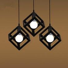 Pendant Lamp USA EU Retro Village Square Creative Living Room Light Loft Of The Quartet Iron Lighting Bedroom Balcony