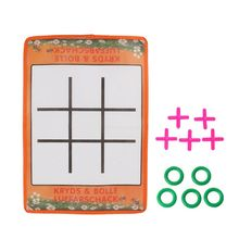 OOTDTY Kids Intelligence Tic-Tac-Toe Parent-Child Interaction Board Game Funny OX Chess  Intellectual Chess цена