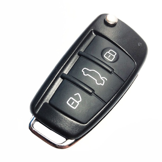US $1 89 |Folding Flip Car Remote Key Cover For Audi Q7 A3 A4 A6 A6L A8 TT  Uncut Blade Replacement 3 Button Key Shell Fob Case-in Car Key from