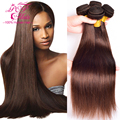 Light Brown Brazilian Hair Weave Bundles Brazilian Virgin Hair Straight 4 Bundles Brazilian Straight Hair Human Hair Bundles