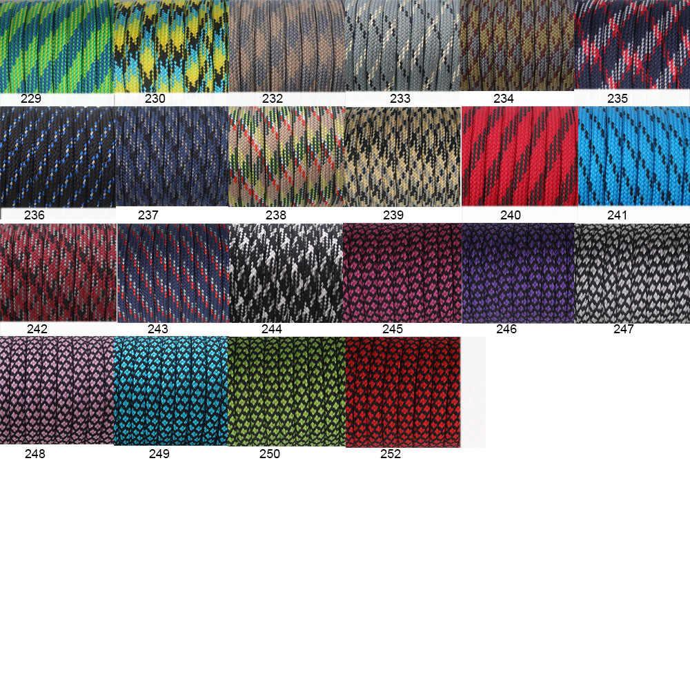 YoouPara 250 цветов Паракорд 550 веревка Тип III 7 Стенд 100 футов 50 футов Паракорд шнур веревка выживания комплект оптовая продажа