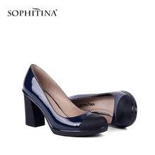 Sophitina/Туфли женские Удобные туфли лодочки с окруженным носком
