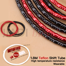 Mountain Bike Shift Tube Aluminum Alloy Variable Speed Line Tube Protection Transmission Line Pipe Black Red Derailleur Line все цены