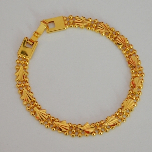 Boys Gold Plated Bracelet Aesthetic Small Fresh Shell Golden Yellow
