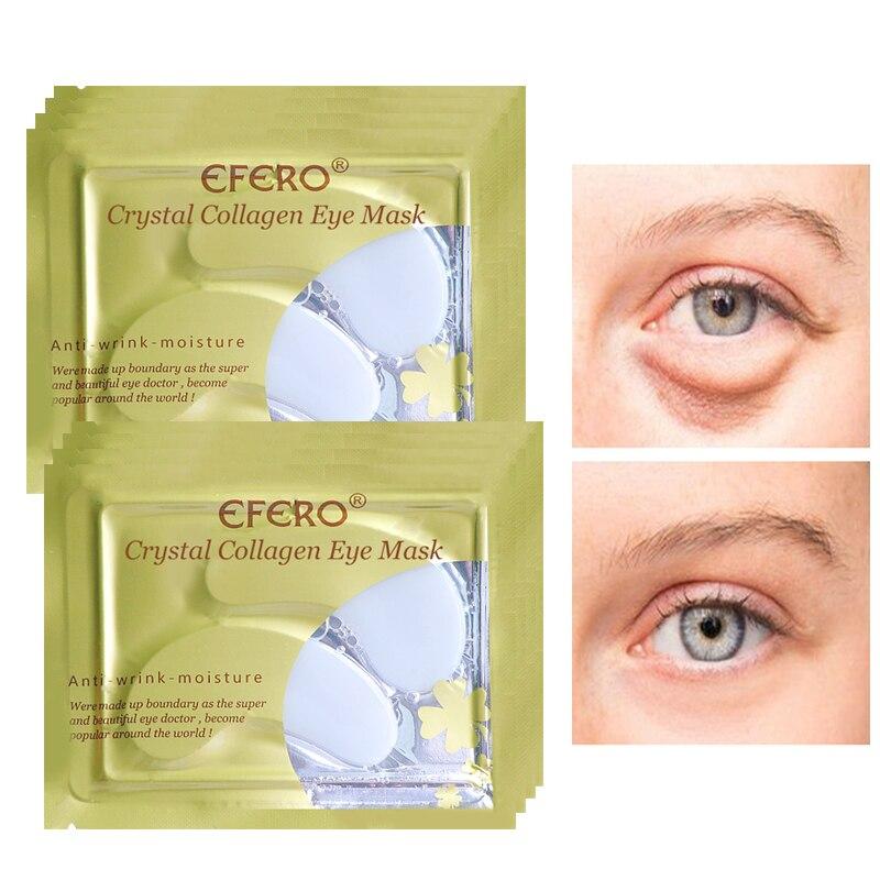 16Pcs/8Pair EFERO Eye Mask Dark Circles Remover Gel Patches Under Pads Moisturizing Anti Aging Collagen Care Sheet