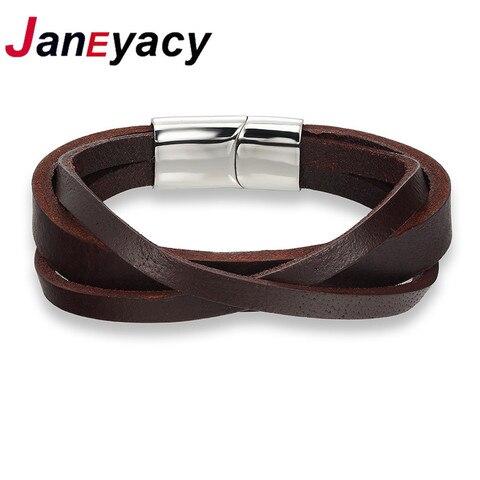 Кожаный мужской браслет janeyacy 2017 ювелирные изделия с якорем