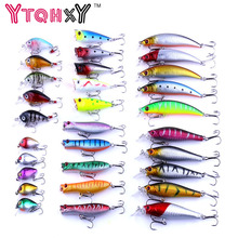 30pcs/lot Minnow Fly Fishing Lure Set China Hard Bait Jia Lure Wobbler Carp 6 Models fishing wobblers Fishing Tackle YE-293