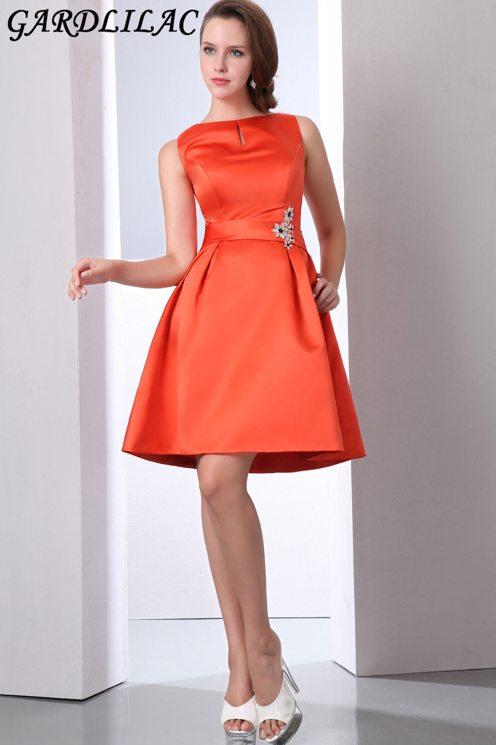 62bcf0b7e91 Robe de cocktail orange – Robes de soirée élégantes populaires en France