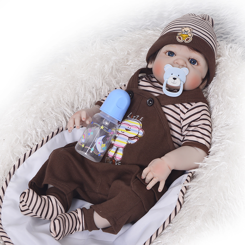 Newborn doll 57 cm Realistic Full Silicone 23 Reborn Baby Doll For Sale Lifelike Baby Alive