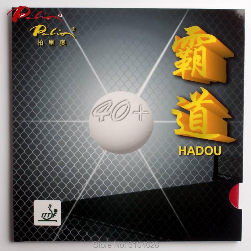 Palio offizielle 40 + hadou tischtennis gummi neues material blauen schwamm für schnellen angriff mit schleife