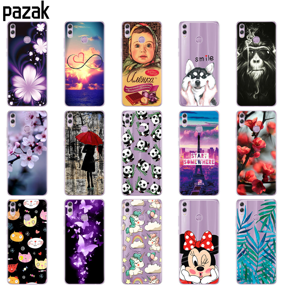 Silicone Case For Huawei Honor 8x Case 6.5 Inch Soft TPU Back Cover For Huawei Honor 8x Protect Phone Shell Coque Bags Painting