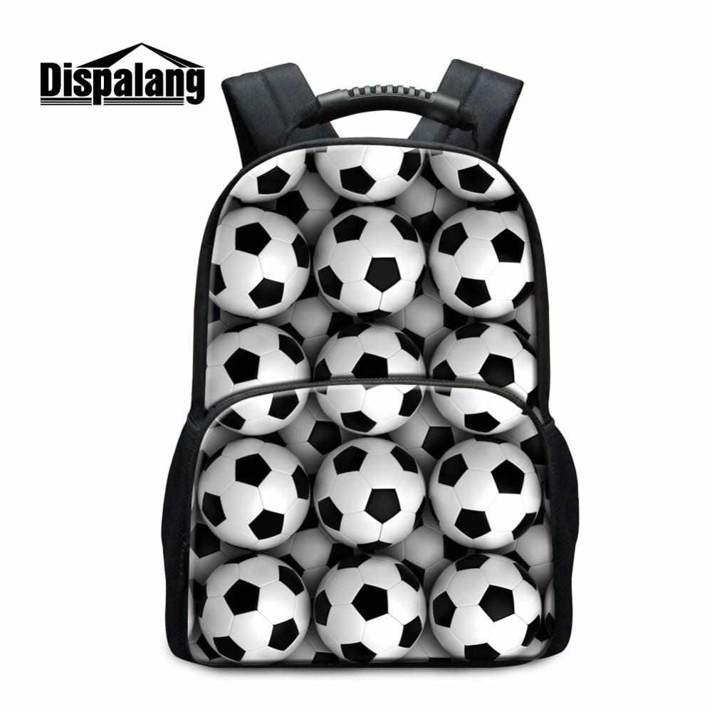 Dispalang большой Ёмкость школы мяч рюкзак 3D шаблон для детей Средняя школа Студенты Back Pack Повседневное Bookbags Колледж