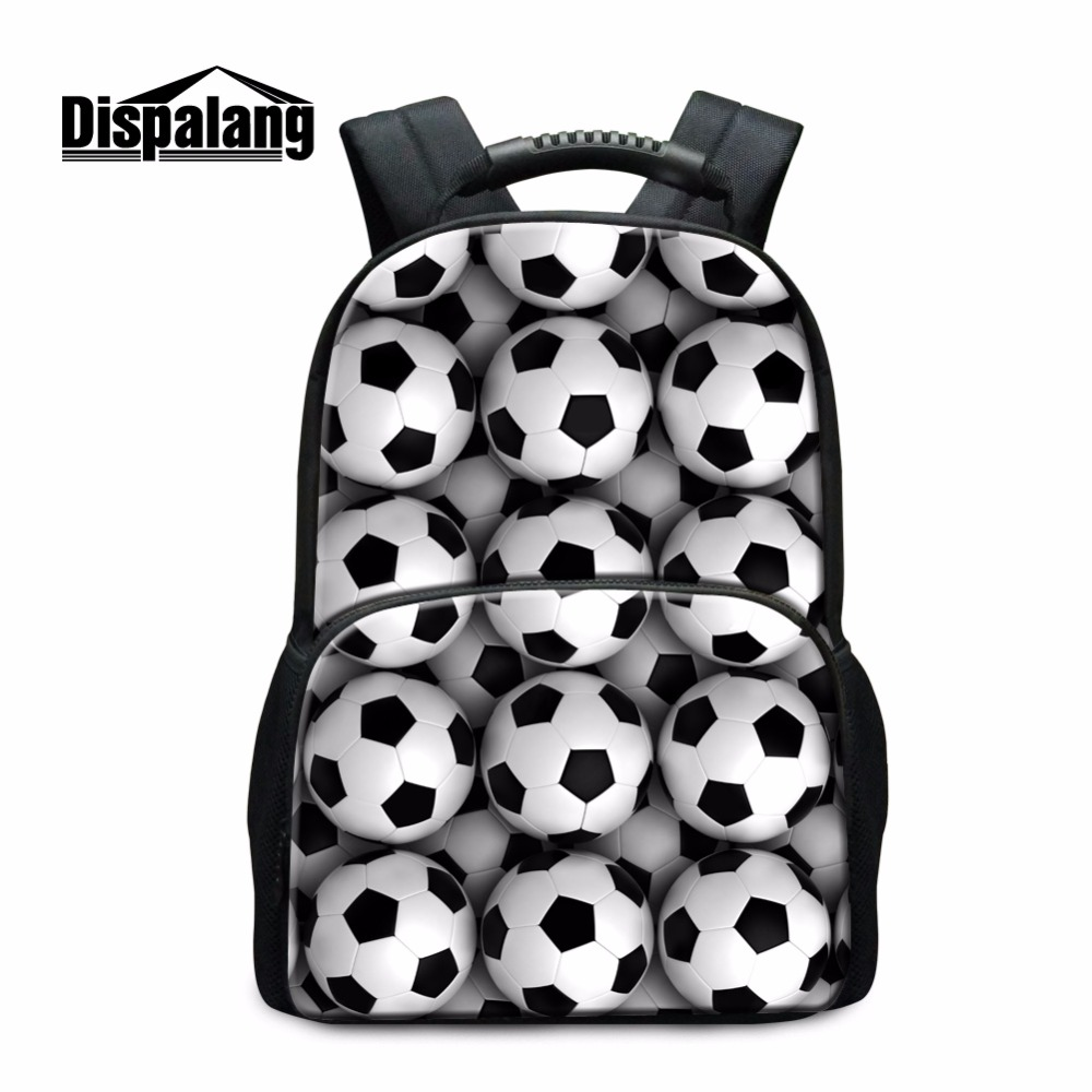 Dispalang Large Capacity School Backpack Ball 3D Pattern for Children Middle School Students Back Pack Casual Bookbags College