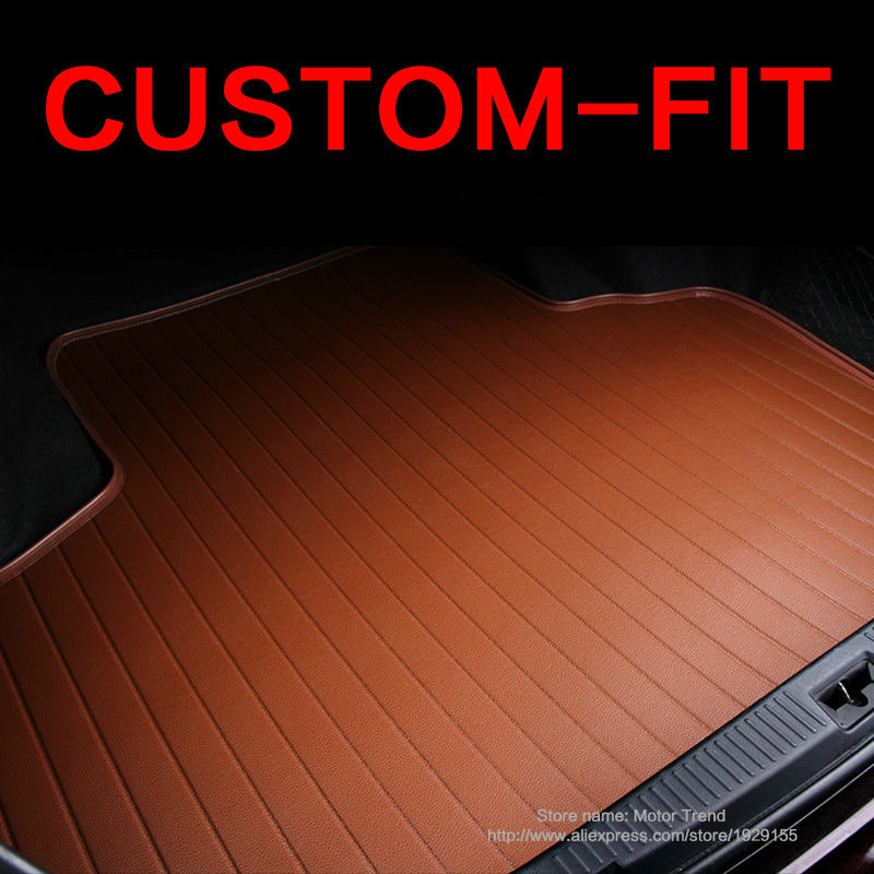 Custom fit car trunk mat for Ford Escape Kuga Fusion Mondeo Ecosport Explorer Focus Fiesta car styling carpet cargo liner custom fit car floor mats for ford edge escape kuga fusion mondeo ecosport explorer focus fiesta car styling carpet liner ry39
