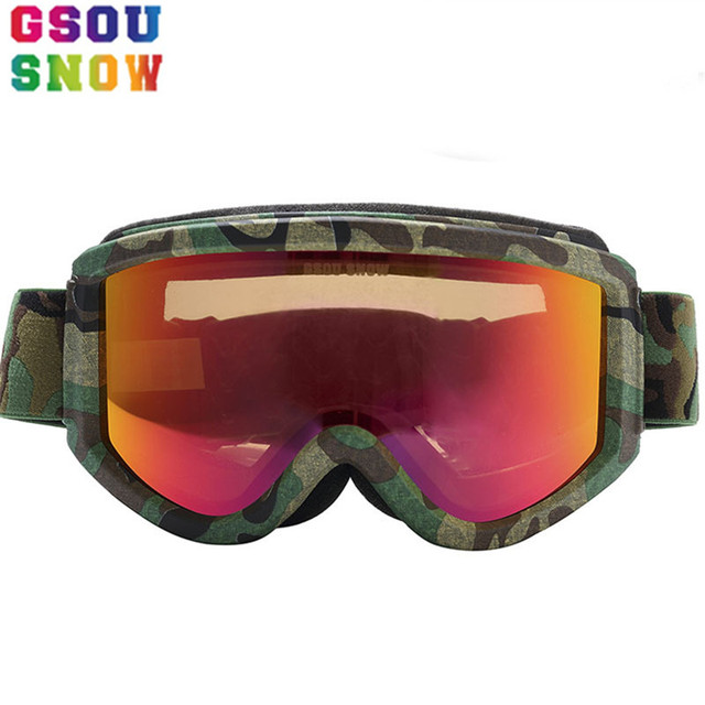 1246a48479b2 Gsou Snow Multi-color Men Women Ski Goggles Winter Outdoor Professional Snowboard  Goggles Protection Unisex